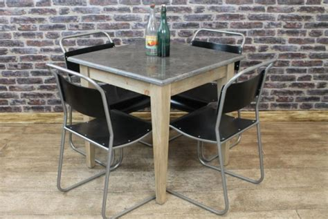 square stone top cafe restaurant tables vintage industrial retro