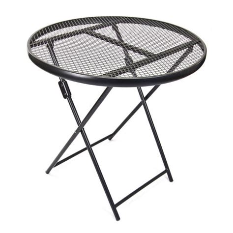 wrought iron folding table wrought iron folding patio chair set at brookstone buy now