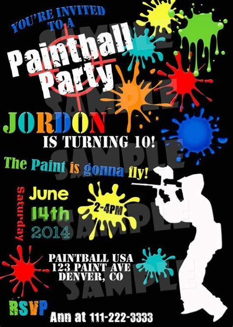 printable gotcha tickets printable paintball party invitation by