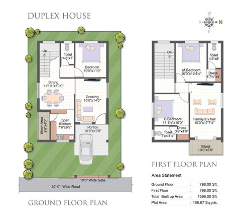 duplex house plans hyderabad plougonver