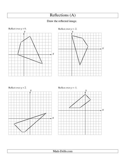Reflection Geometry Worksheet by Reflection Math Worksheets Reflection And Translation