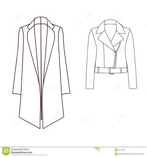 Parka Jacket Sweater Jaket Jaket Bomber Jaket Wanita set of technical and industrial flat fashion template