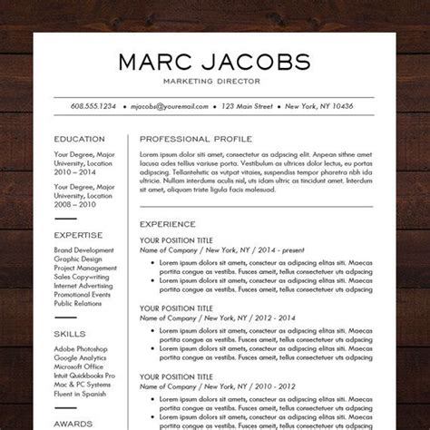 Professional Resume Ideas by Beautiful And Sleek Resume Template Cv Template For Ms