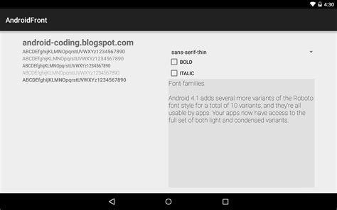 android fontfamily android coding exle to set fontfamily application for android free