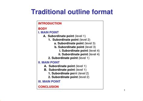 5  outline format in word   teknoswitch