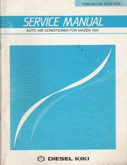 service manual automobile air conditioning service 1988 mazda familia free book repair manuals mazda 929 factory auto air conditioner service manual