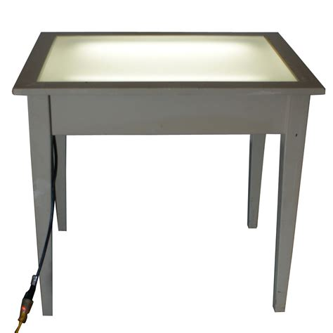 Vintage Drafting Light Table Desk Wood Glass Mr11518 Ebay Glass Drafting Table With Light
