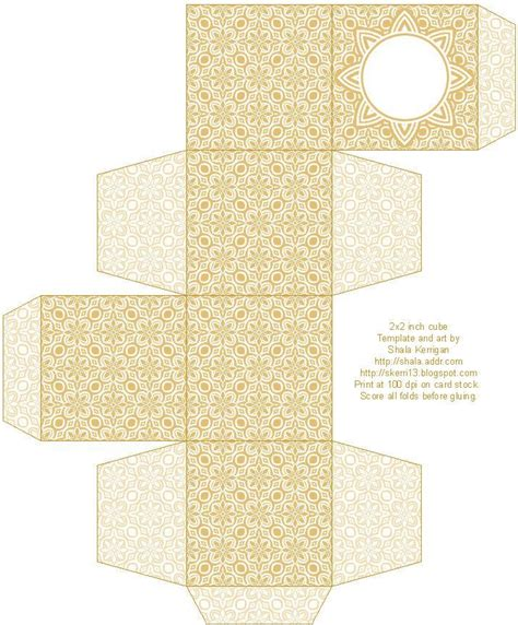 pattern box and the rest of the favor boxes printable box box