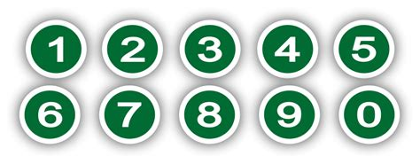 Green circle with Numbers PNG 900px Large Size   Clip arts