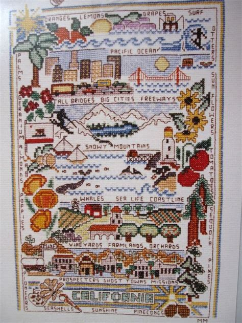 pattern history table 92 best images about cross stitch california on pinterest