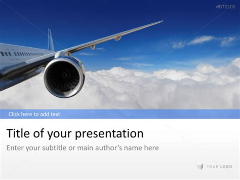 Presentationload Powerpoint Industry Templates Airline Ppt Template