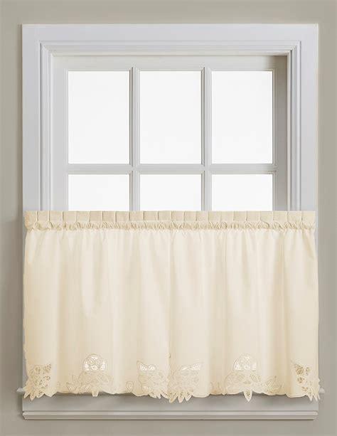 24 kitchen curtains battenburg lace cotton 24 quot kitchen curtain tier ecru