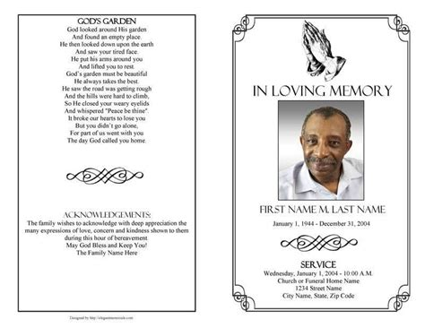 free funeral order of service template free memorial template funeral program micros with funeral