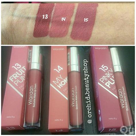 Lip Wardah Lipcream Lipgloss Matte 1 18 ready wardah exclusive matte lipcream wardah lip