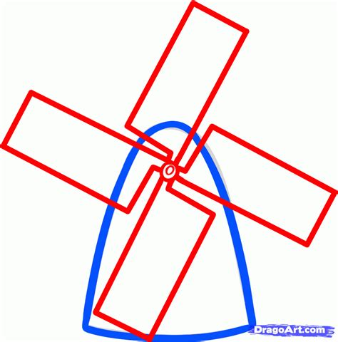 how to a how to draw a windmill easy step by step buildings landmarks places free