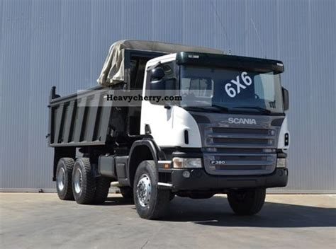scania p380 specification scania p380 6x6 2006 tipper truck photo and specs