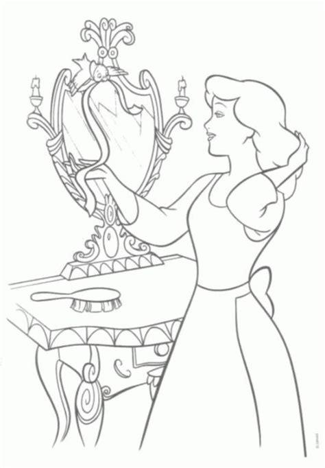 cinderella birds coloring pages princess cinderella and bird coloring pages disney s
