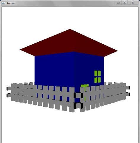 membuat rumah 3d dengan opengl liphoe membuat rumah sederhana dengan opengl
