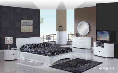 adult bedroom sets gia white wenge glossy nightstand by global furniture
