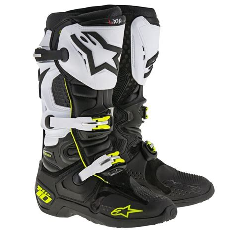 white motocross boots 2017 alpinestars tech 10 motocross boots white black
