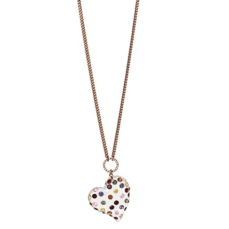 Multi Color Pendant Necklace betsey johnson multi color pendant necklace boscov s