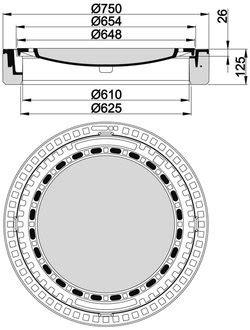 schachtabdeckungen zum auspflastern beton guss schachtabdeckung klasse b 125 rund mit