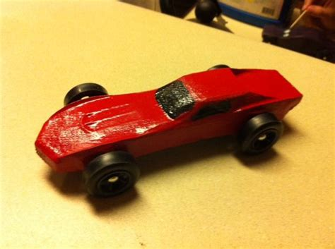 pinewood derby car on shopbot
