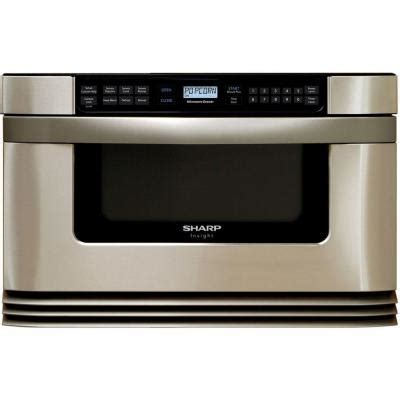 sharp refurbished insight 1 0 cu ft microwave drawer in