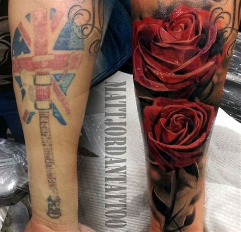rose tattoo cover up ideas 55 cover up tattoos before and after guitar