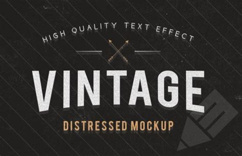 vintage text effect template psd file free download
