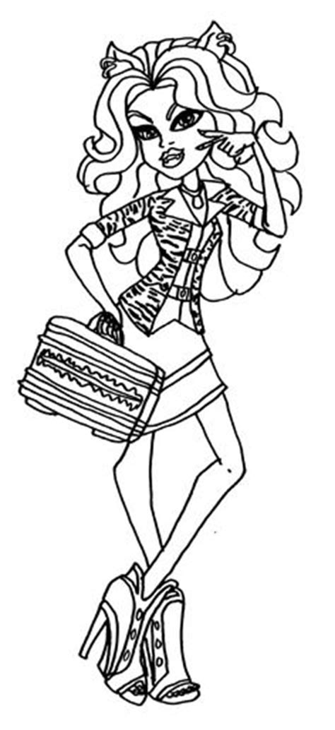 monster high madison fear coloring pages free printable monster high coloring page for madison fear