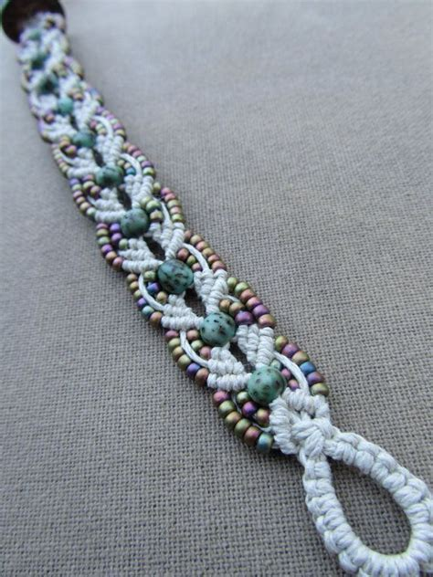 Hemp Macrame Patterns - salwag nut and glass hemp macrame bracelet hemp macram 233