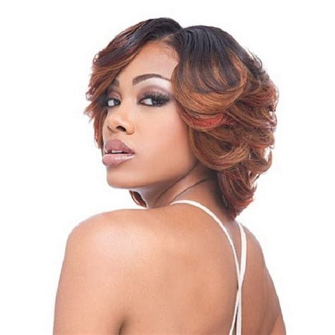 bob cut with bump hair feathered hairstyles for black women