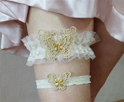 bridal wedding garters wedding garter set gold butterfly bridal garter set