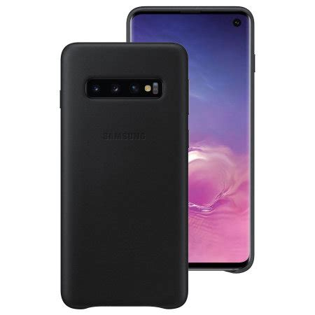 official samsung galaxy s10 genuine leather cover black reviews