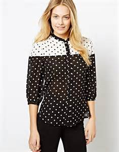 Simple Polka Shirt 22 excellent womens white blouse with black polka dots sobatapk