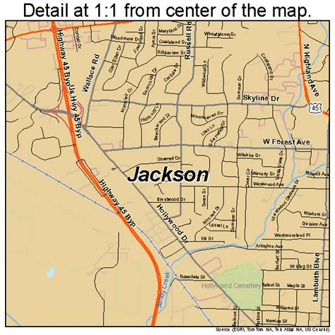 jackson map jackson tennessee map 4737640