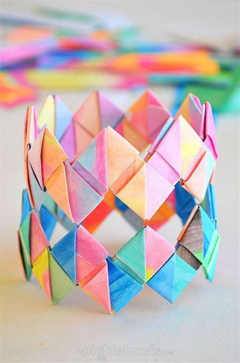 How To Make 3d Things With Paper - 25 best ideas about paper bracelet on modular