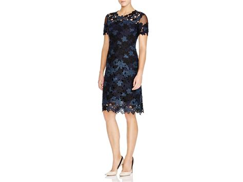 Dress And Fell Navy Floral Lace elie tahari ophelia floral lace dress in green lyst