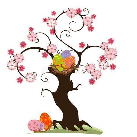 albero clipart albero di pasqua illustrazione vettoriale illustrazione