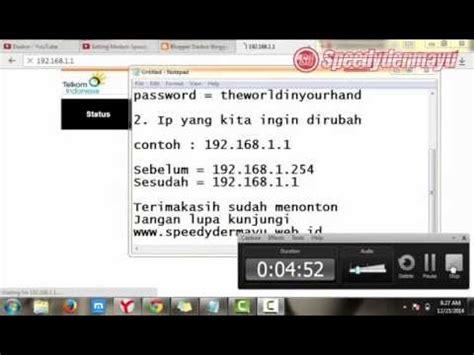 Modem Speedy Zte Zxv10 W300s cara merubah ip modem zte zxv10 w300s