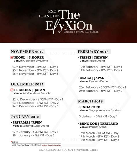 exo elyxion concert schedule exo schedule on twitter quot exo planet 4 the eℓyxion