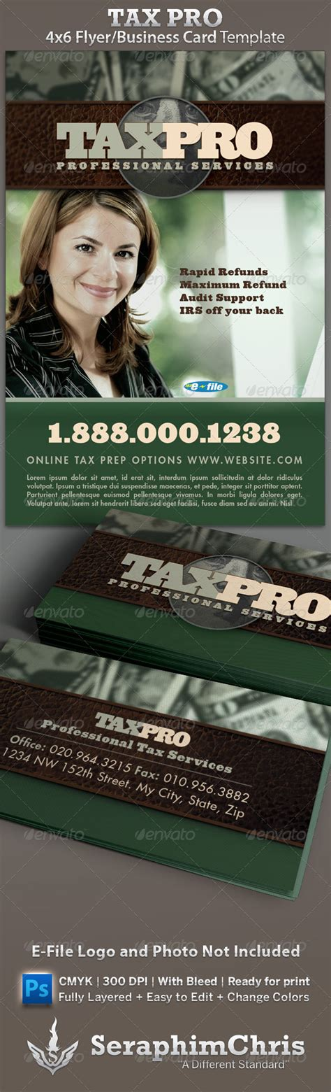 tax business cards templates tax preparation flyers templates 187 maydesk