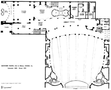 chicago theater floor plan southtown theatre in chicago il cinema treasures