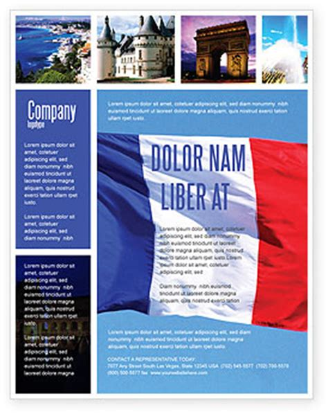 french flag flyer template background in microsoft word