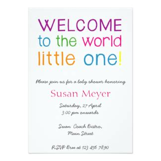 welcome baby invitations announcements zazzle