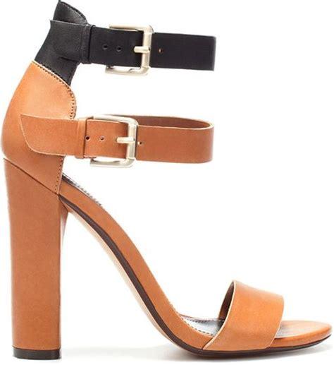 High Heels Zara Saleem zara high heel sandal with buckles in brown lyst