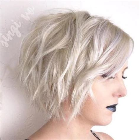 platinum blonde bob hairstyles pictures 40 short shag hairstyles that you simply can t miss
