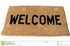 welcome mat stock photo image 6778130