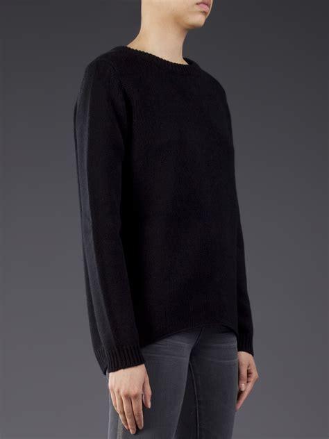 boat neck christmas jumper lyst lareida boat neck sweater in black